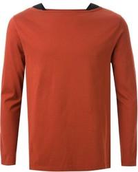 Jersey con cuello circular naranja de Maison Margiela