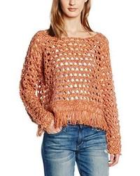 Jersey con cuello circular naranja de Only