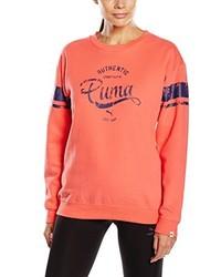 Jersey con cuello circular naranja de Puma