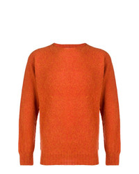 Jersey con cuello circular naranja de YMC
