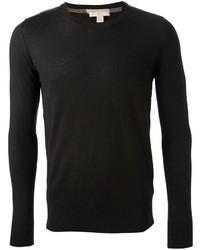 Jersey con cuello circular negro original 402390