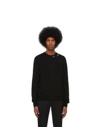 Jersey con cuello circular negro de Alexander McQueen
