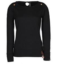 Jersey con cuello circular negro de alife & kickin