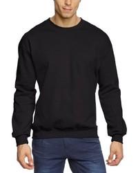 Jersey con cuello circular negro de Anvil