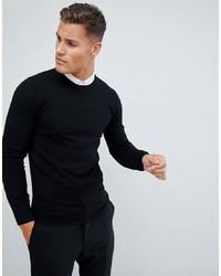 Jersey con cuello circular negro de ASOS DESIGN
