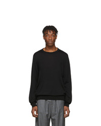 Jersey con cuello circular negro de Balenciaga