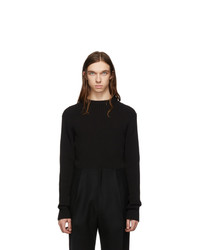 Jersey con cuello circular negro de Bottega Veneta