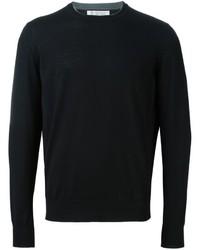 Jersey con cuello circular negro de Brunello Cucinelli