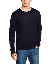 Jersey con cuello circular negro de Calvin Klein