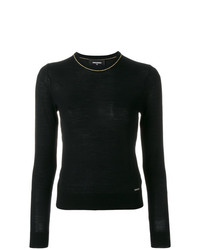 Jersey con cuello circular negro de Dsquared2