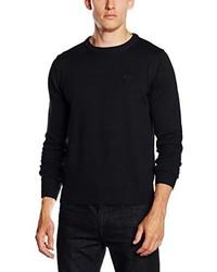 Jersey con cuello circular negro de Gant
