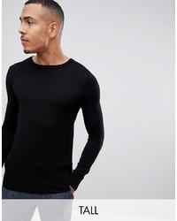 Jersey con cuello circular negro de Gianni Feraud