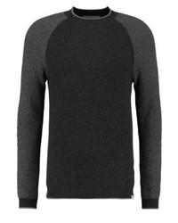 Jersey con cuello circular negro de Hollister Co.