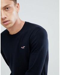 Jersey con cuello circular negro de Hollister