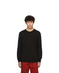 Jersey con cuello circular negro de Hugo