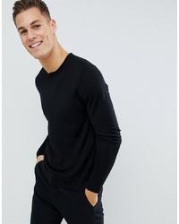 Jersey con cuello circular negro de J. Lindeberg