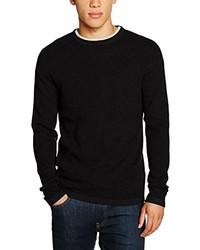 Jersey con cuello circular negro de JACK & JONES PREMIUM