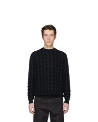 Jersey con cuello circular negro de Jil Sander
