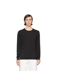 Jersey con cuello circular negro de Lanvin