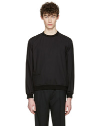 Jersey con cuello circular negro de Lemaire
