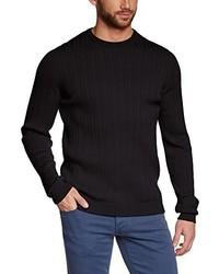 Jersey con cuello circular negro de Maerz