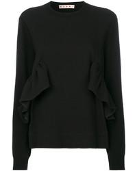 Jersey con cuello circular negro de Marni