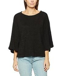 Jersey con cuello circular negro de Miu Sutin