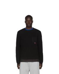 Jersey con cuello circular negro de Moncler