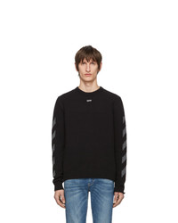 Jersey con cuello circular negro de Off-White
