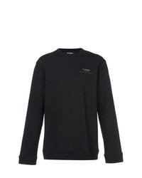 Jersey con cuello circular negro de Raf Simons