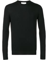 Jersey con cuello circular negro de Salvatore Ferragamo