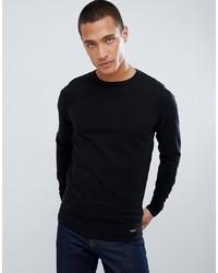 Jersey con cuello circular negro de Threadbare