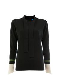 Jersey con cuello circular negro de Undercover