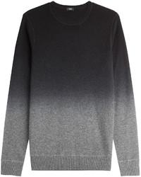 Jersey con cuello circular ombre gris