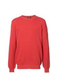 Jersey con cuello circular rojo de A.P.C.