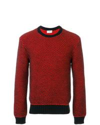 Jersey con cuello circular rojo de AMI Alexandre Mattiussi