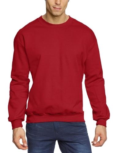 Jersey con cuello circular rojo de Anvil