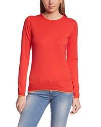 Jersey con cuello circular rojo de C.P.M.
