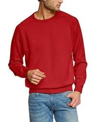 Jersey con cuello circular rojo de Casamoda