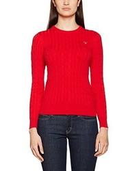 Jersey con cuello circular rojo de GANT