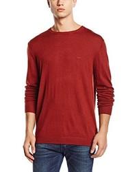 Jersey con cuello circular rojo de Lee