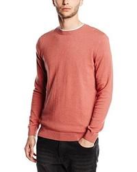 Jersey con cuello circular rojo de New Look
