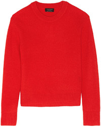 Jersey con cuello circular rojo de Rag and Bone