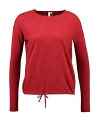 Jersey con cuello circular rojo de s.Oliver