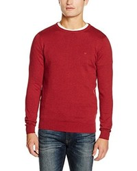 Jersey con cuello circular rojo de Tom Tailor