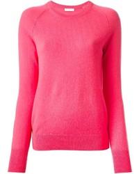 Jersey con cuello circular rosa original 4220567