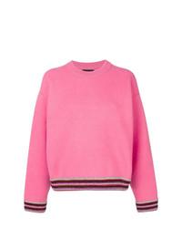 Jersey con cuello circular rosa de Alanui