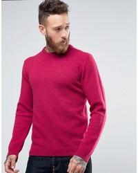 Jersey con cuello circular rosa de Asos