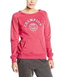 Jersey con cuello circular rosa de Champion