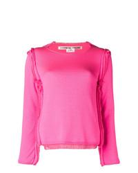 Jersey con cuello circular rosa de Comme des Garcons